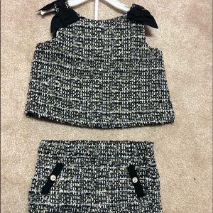 Janie & jack tweed shirt set
